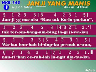 Lirik dan Not NKB 143 Janji Yang Manis
