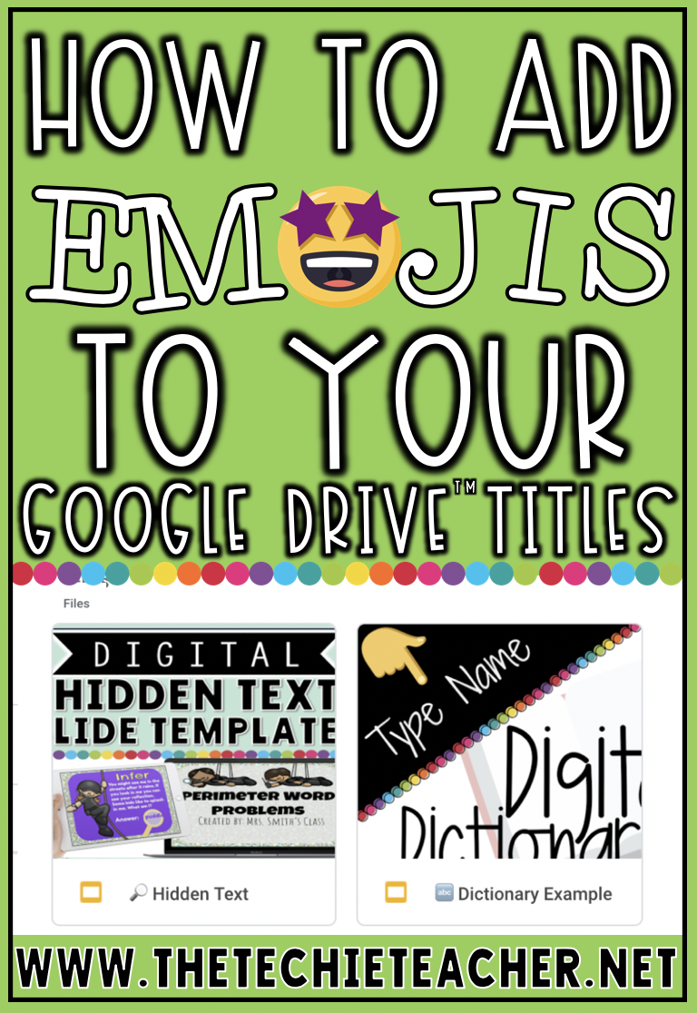 How to Add Emojis to Your Google Drive Titles and Folders