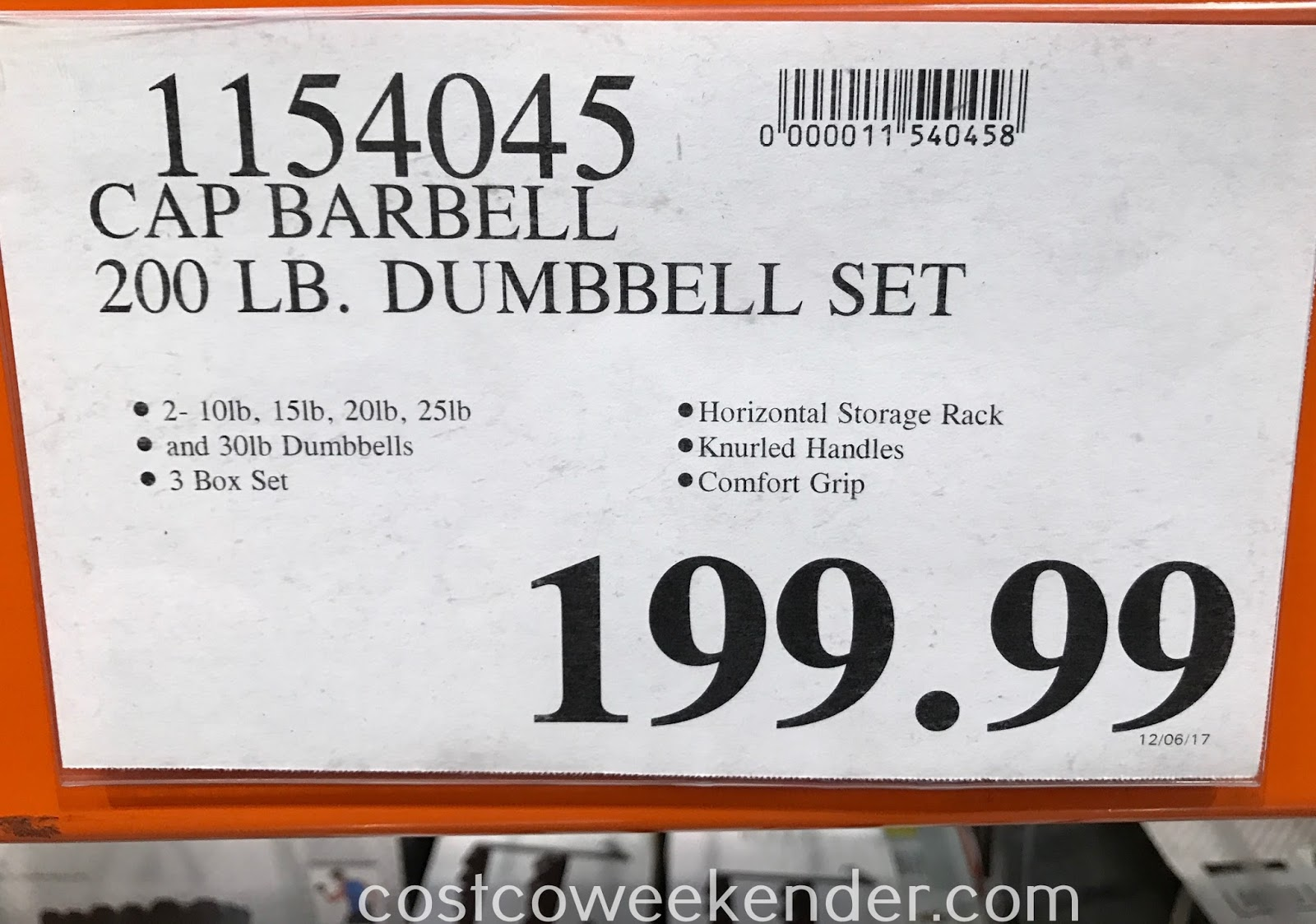 Costco 1154045 - Deal for the CAP Strength 12 Sided Dumbbell Set with Rack at Costco