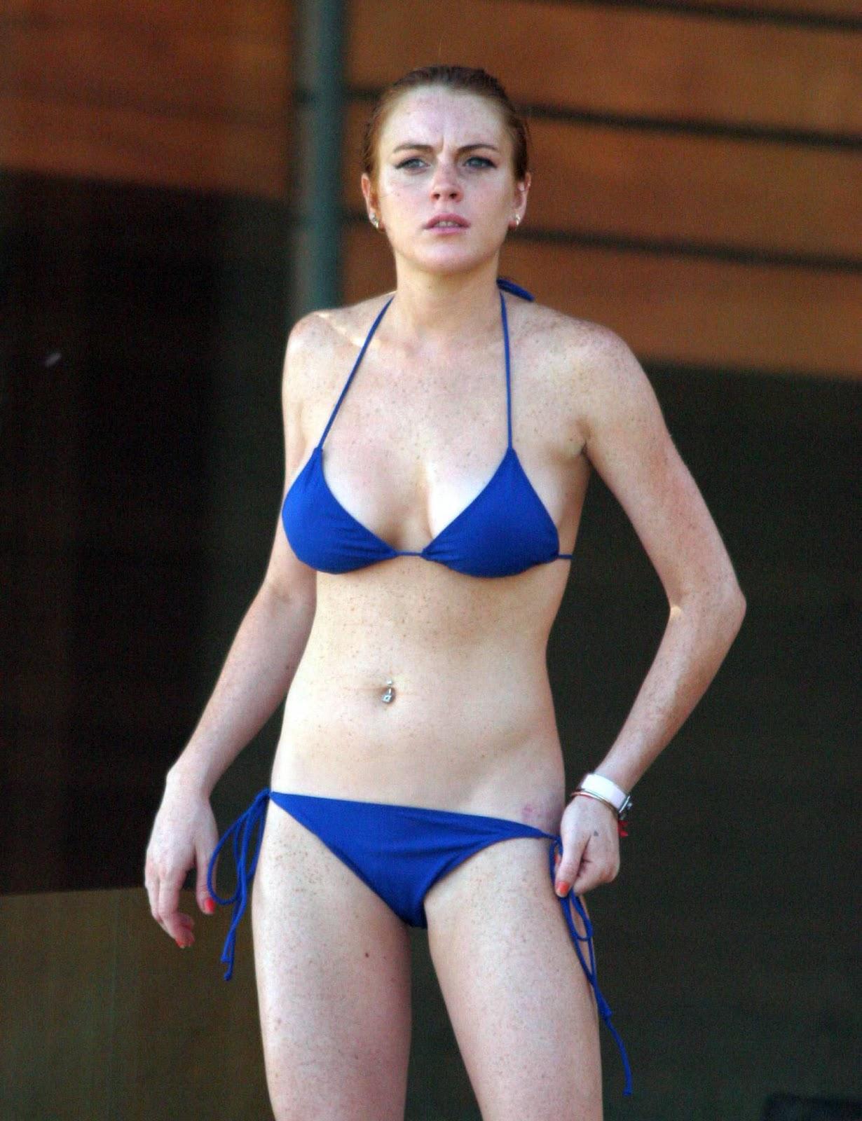 Lindsay Lohan Green Bikini 12