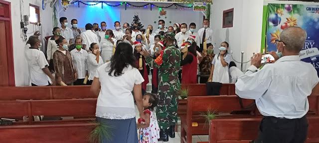 Natal, Danramil Mojogedang Ajak Warga Turut Mendukung Dalam Keamanan
