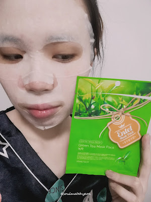 Review; Entel Green Tea Mask Pack + First Impression