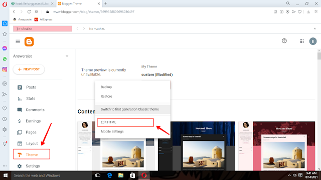 How to set up Email Subscription on blogger