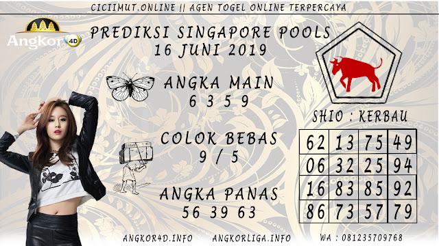 PREDIKSI SINGAPORE POOLS 16 JUNI 2019