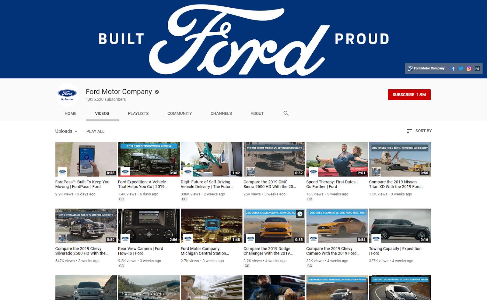 Ford Motor Company YouTube .com