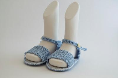 Sandalias ganchillo bebé
