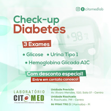 LABORATÓRIO CITOMED - Check-up Diabetes