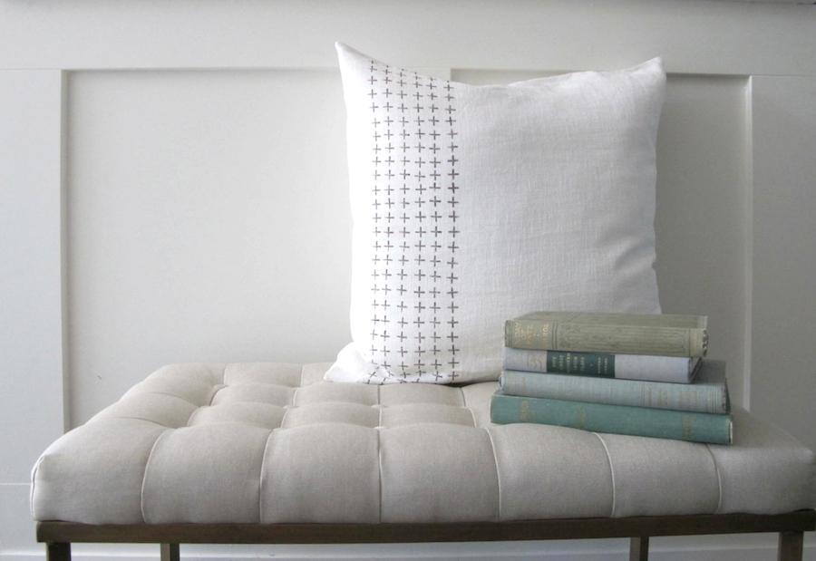 Astonishing Diy No Sew Scandinavian Inspired Stamped Pillow Paper Dailytribune Chair Design For Home Dailytribuneorg