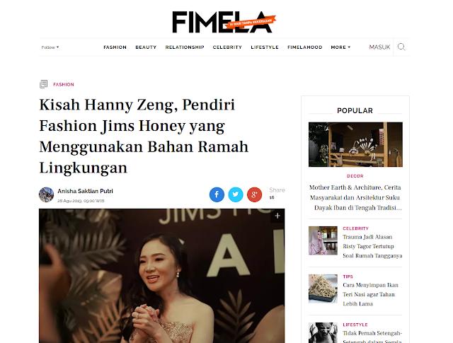 Kisah Hanny Zeng, Peniri Fashion Jims Honey yang Menggunakan Bahan Ramah Lingkungan