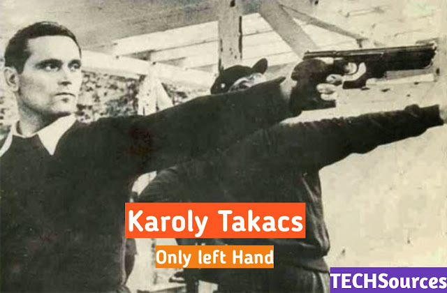 Only left Hand win gold medel karoly Takacs