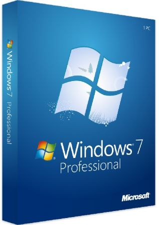 Windows 7 Professional SP1 poster box cover