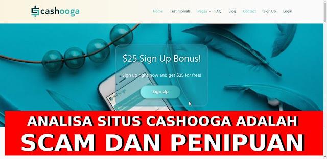bukti cashooga scam penipuan online