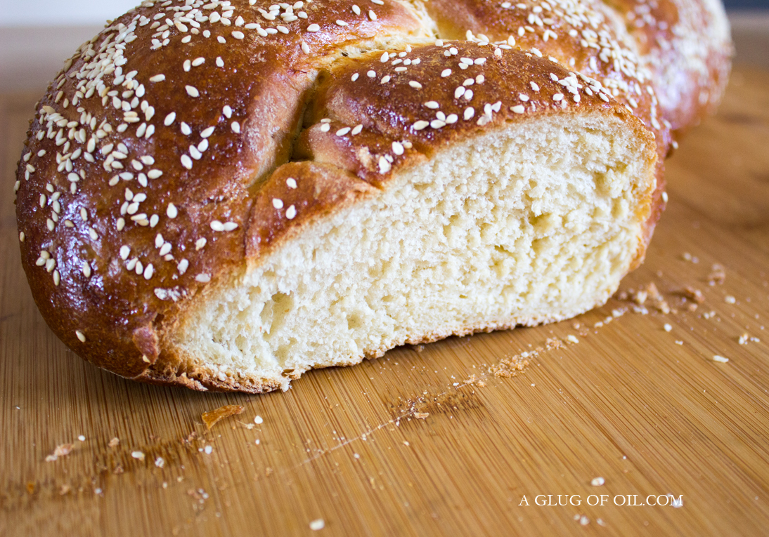 Sliced Honey Challah Bread