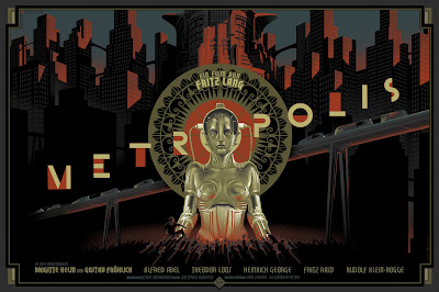 Dark Hall Mansion - Metropolis Standard Edition Screen Print by Laurent Durieux