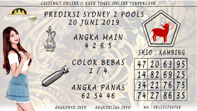 PREDIKSI SYDNEY 2 POOLS 20 JUNI 2019