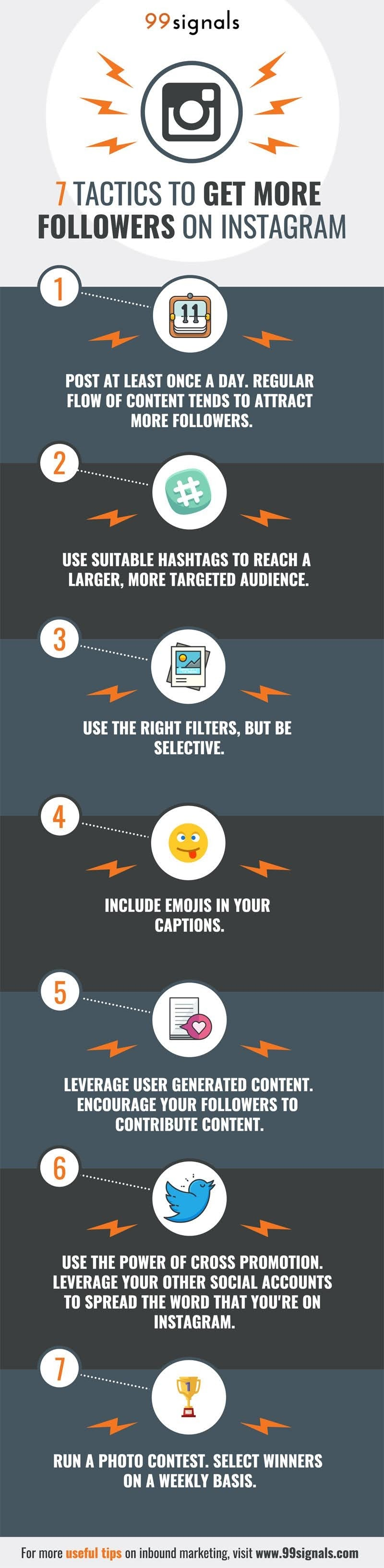 7 (Insanely Simple) Growth Hacking Tactics To Get More Instagram Followers #infographic