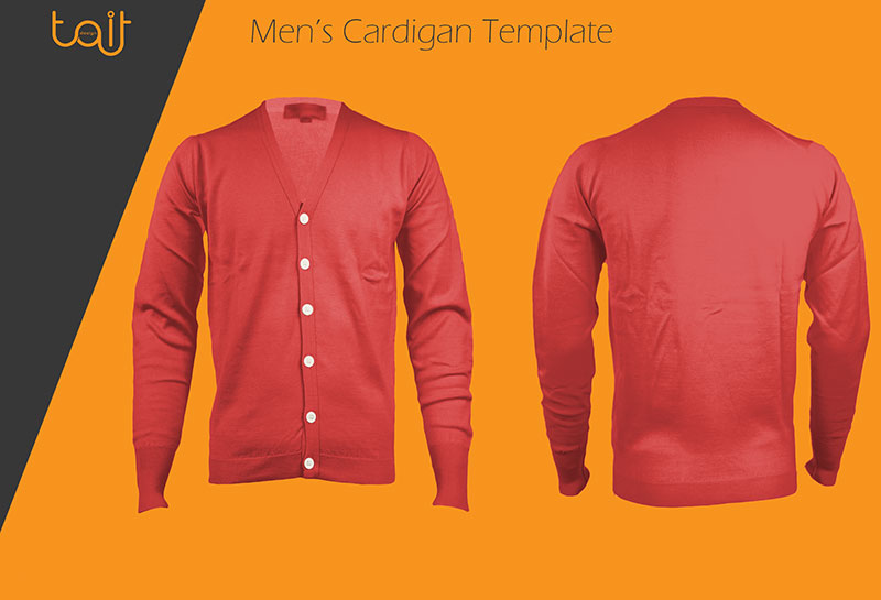 Men Cardigan Template Design