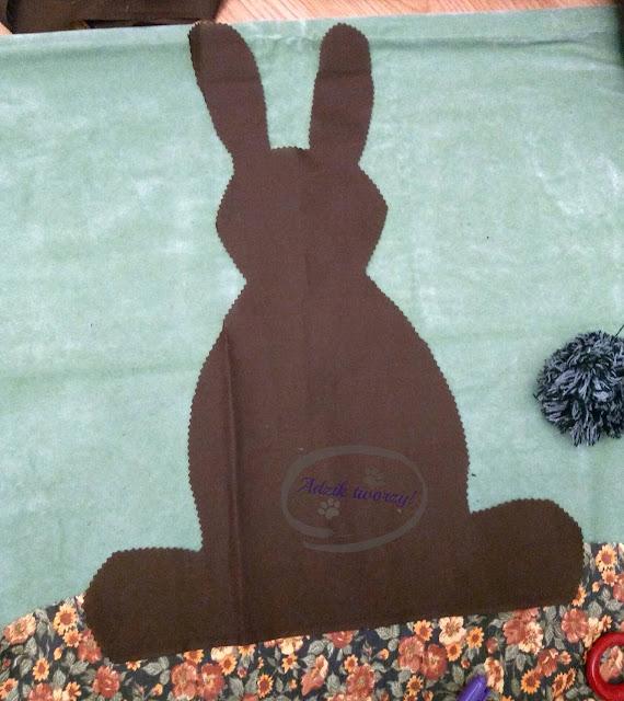DIY Wielkanocne poszewki na poduszki - Adzik tworzy