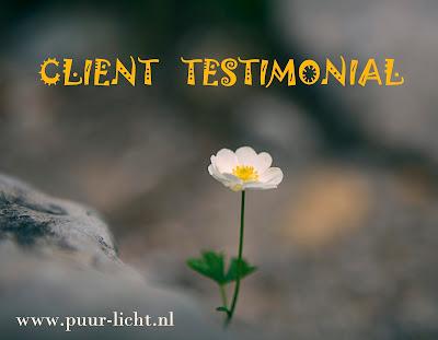 Client Testimonial, Puur Licht Pure Light, Tao, Healing, Soul healing, Light, Spirituality,