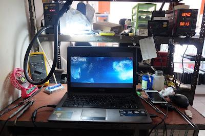 Service Laptop asus x44h tidak mau tampil di layar