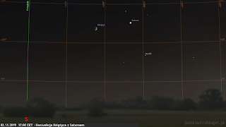 02.11.2019 - koniunkcja Księżyca z Saturnem