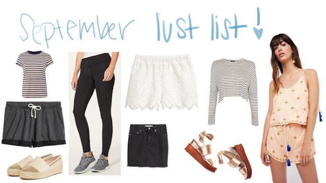 September Lust List