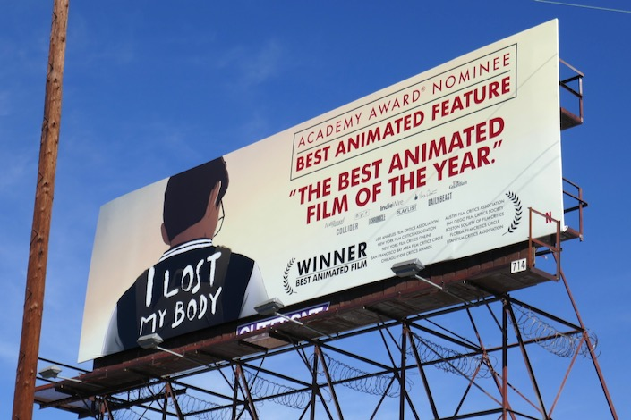 I Lost My Body Academy Award billboard