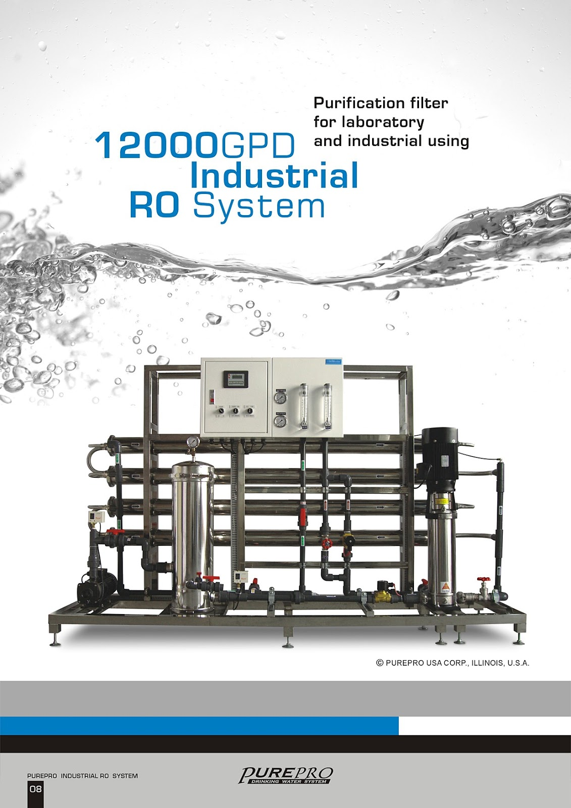 PurePro® RO12000 Industrial Reverse Osmosis Water Filter System