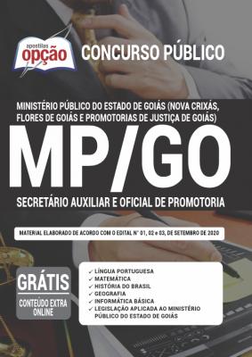 Apostila Concurso MP GO 2020 PDF Edital Online Inscrições