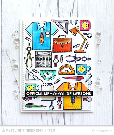 You're Awesome Card by Yoonsun Hur featuring the Get Down to Business stamp set #mftstamps