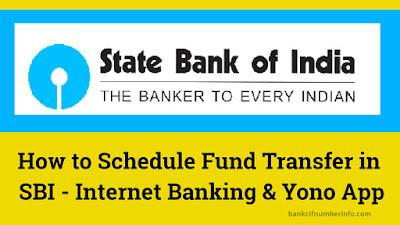 Schedule Fund Transfer in SBI