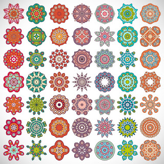 Creative decorative elements vector sample
