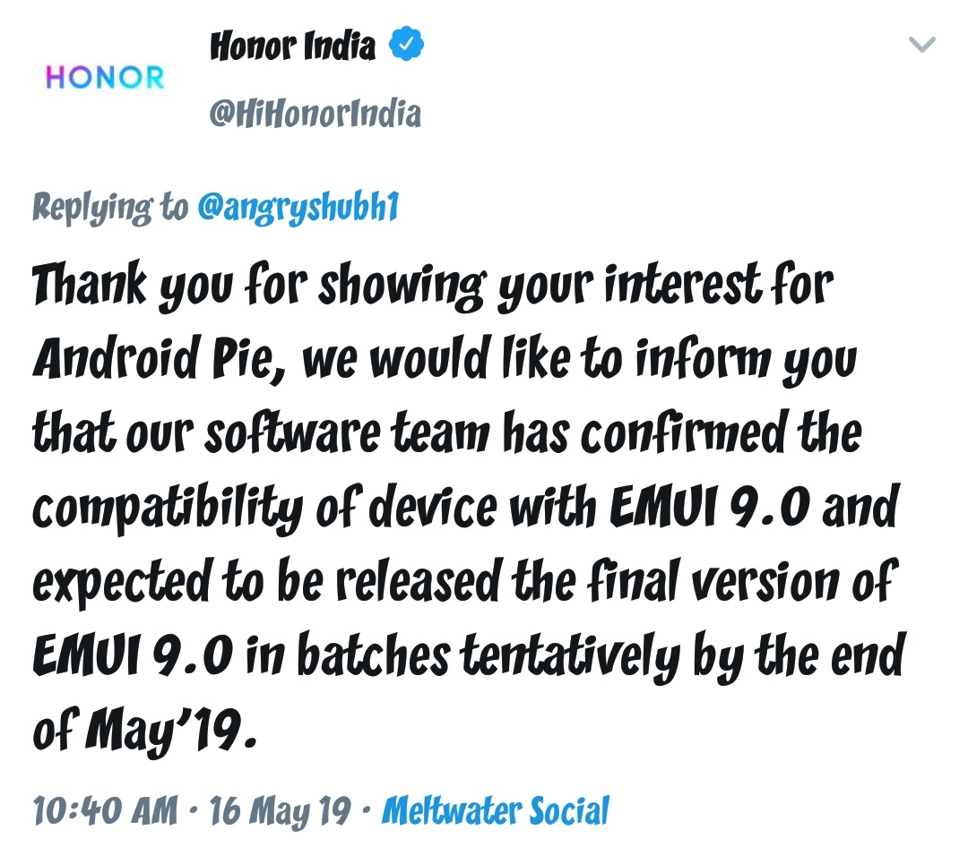 Angry Shubh: Andriod Pie Update Dates For Honor 9n And Honor