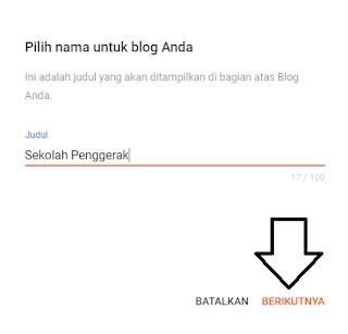 Masukan Judul Blog