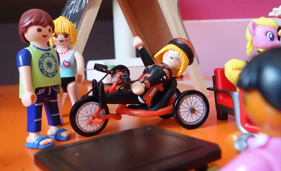Click de playmobil con handbike