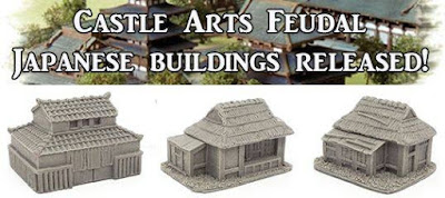 Feudal Japanese Buildings from Pendraken Miniatures