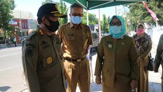Wakil Walikota Dan Sekda Kota Cirebon Turun Langsung Memantau Penegakan Disiplin Penggunaan Masker