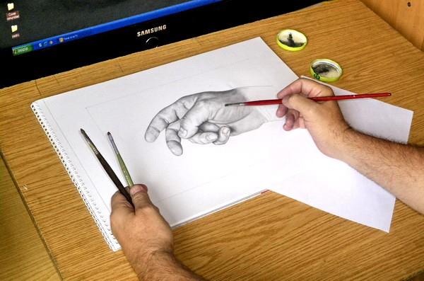 Tajapinta dibujando con grafito paso a paso - Papel para dibujar ...