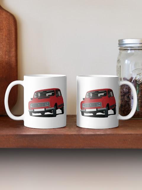 Renault 4 two image mug