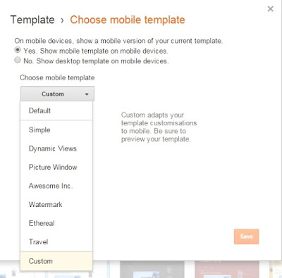Setting tampilan responsive CTR Booster Blogger Template (High CTR)