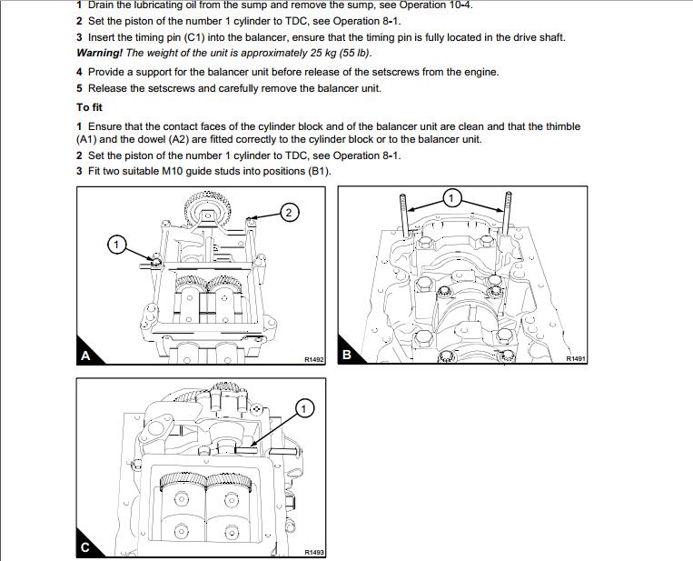 Perkins 1100 Series 4 Cylinder Diesel Engines Workshop