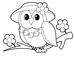 Cute Baby Owl Animals Coloring Pages Print Online
