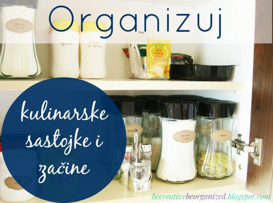 Organizuj: kuhinjski ormarić sa kulinarskim sastojcima i začinima