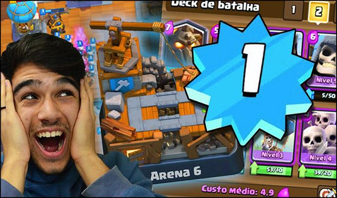 Jogador Nível 1 na Arena Oficina do Construtor (Arena 6) - 1