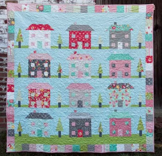 happy scrappy village quilt