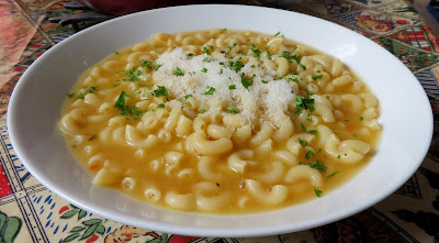 Pasta with Chicken Broth, Butter & Cheese