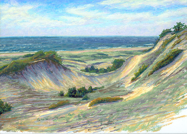 Day In The Dunes Cape Cod Landscape Plein Air Painting