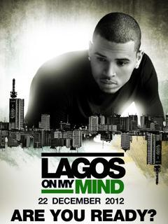 chris brown coming to lagos