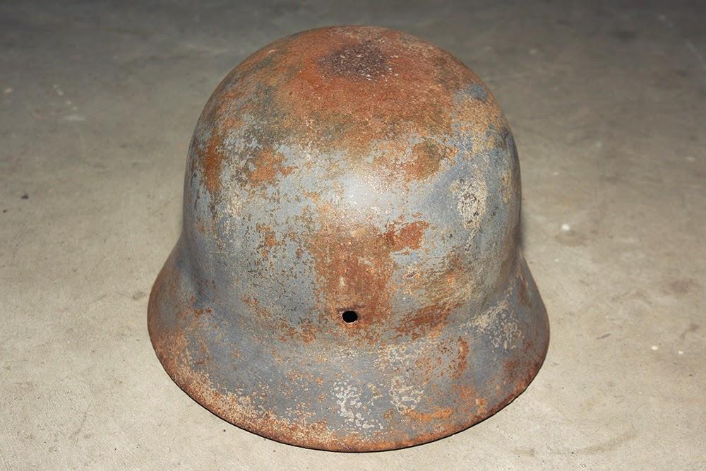 elmetto tedesco M35 Luftwaffe acido ossalico