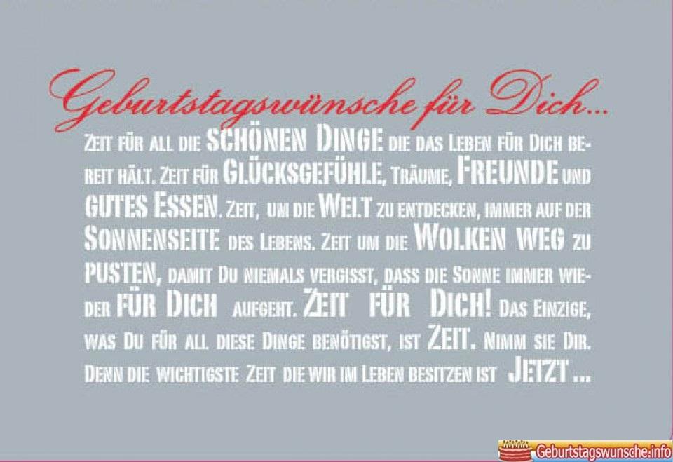 Geburtstagswünsche Lange Texte - Geburtstagskarte Text